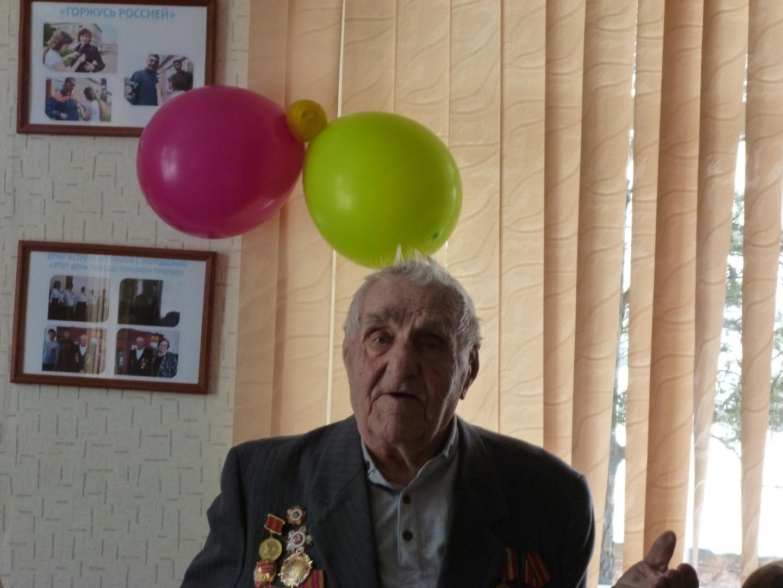 Поздравительное слово. Ветеран Великой Отечественной войны Мациенко Михаил Семенович.